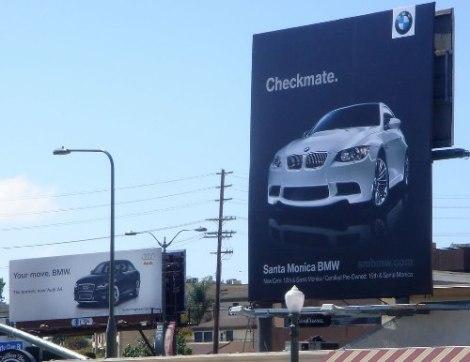 goodshoutmedia-audi-bmw-ad-war-cali-billboard-checkmate-1