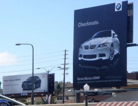 goodshoutmedia-audi-bmw-ad-war-cali-billboard-checkmate-1