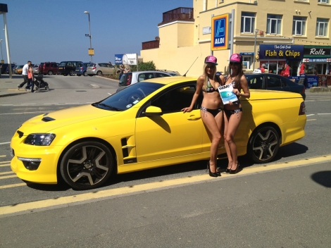 The Vauxhall Maloo enjoys another normal day in the life of a Wavelength Surf Magazine writer