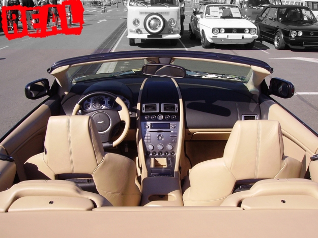The real deal… plush interior of the DB9 Volante
