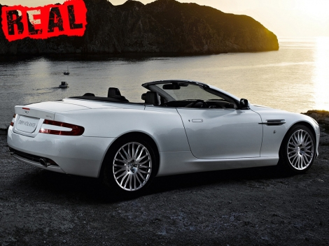 The real Aston Martin DB9 Volante