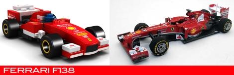 The Lego Ferrari F138 vs the real thing