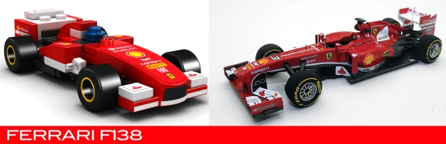 The Lego Ferrari F138 vs the real thing
