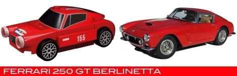 The Lego Ferrari 250 Berlinetta vs the real thing