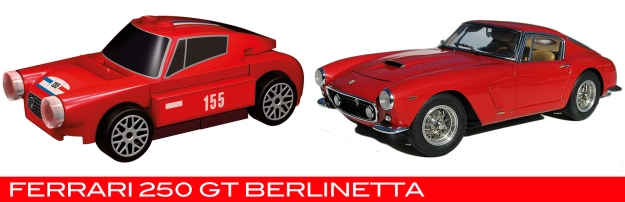 The Lego Ferrari 250 Berlinetta vs the real thing