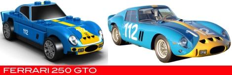 The Lego Ferrari 250 GTO vs the real thing