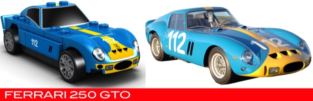 The Lego Ferrari 250 GTO vs the real thing