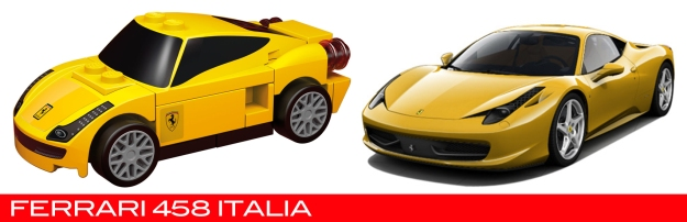 The Lego Ferrari 458 Italia vs the real thing