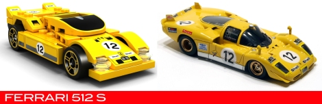 The Lego Ferrari 512s vs the real thing