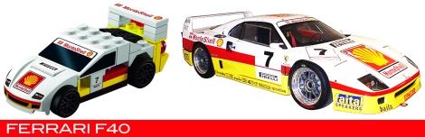 The Lego Ferrari F40 vs the real thing