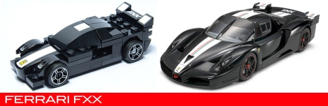 The Lego Ferrari FXX vs the real thing