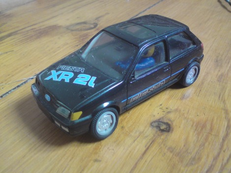 The Ford Fiesta XR2i Scalextrics Car wasn't very popular, was sluggish and for some reason just didn't handle very well...