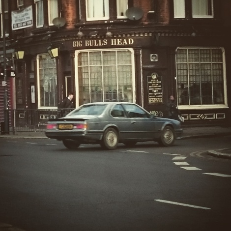 Always loved the shape of the big BMW Coupe, and seeing this 635csi still in use made us smile