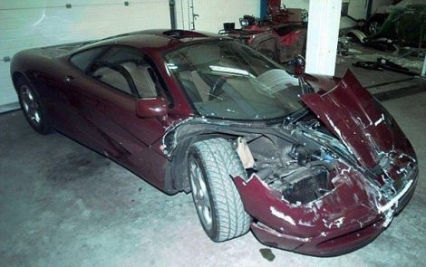 The car suffered significant front end damage after an altercation with a Rover Metro in 1999