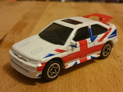 Matchbox Ford Escort RS Cosworth Union Jack 2