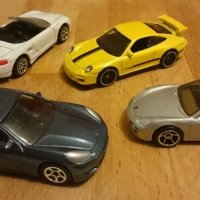 Miniature Motoring: The Porsche Range, in miniature
