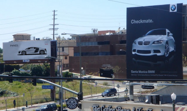 goodshotumedia-audi-bmw-ad-war-california-billboard-advertisement-checkmate-2