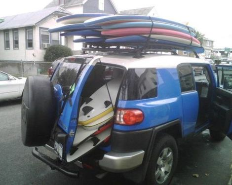 too many surfboards